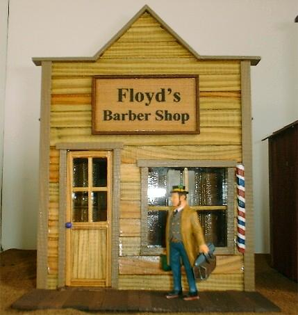 Smith Pond Junction Railroad Barber Shop Front Kit
