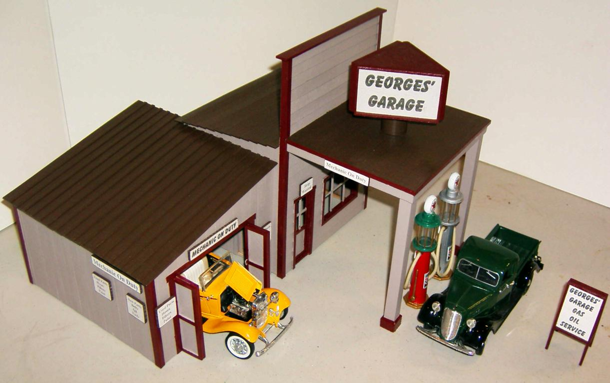 Smith Pond Junction Railroad Georges Garage Kit Assembly